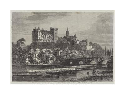 The Revolution in Spain, Chateau at Pau, the Residence of the Ex-Queen Isabella of Spain-Samuel Read-Giclee Print
