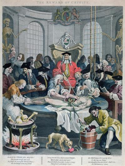 The Reward of Cruelty, from the Four Stages of Cruelty, Engraved by Thomas Cook-William Hogarth-Giclee Print