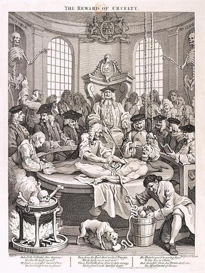 The Reward of Cruelty, Plate IV from the Four Stages of Cruelty, 1751-William Hogarth-Giclee Print