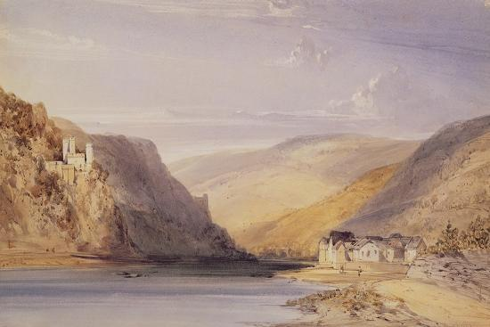 The Rhine at Assmannshausen-William Callow-Giclee Print
