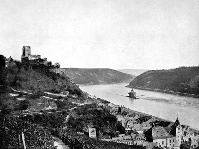 The Rhine, Gutenfels, and the Pfalz, Germany, 1893-John L Stoddard-Giclee Print