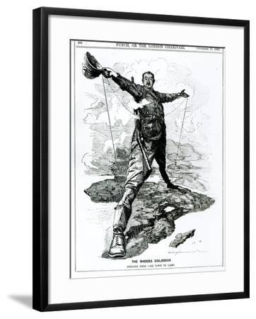 The Rhodes Colossus, from Punch, 10th December 1892--Framed Giclee Print