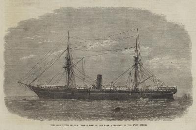 The Rhone, One of the Vessels Lost in the Late Hurricane in the West Indies--Giclee Print