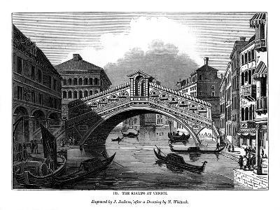 The Rialto at Venice, 1843-J Jackson-Giclee Print