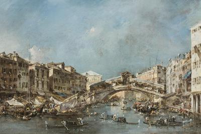 The Rialto Bridge, C.1775-Francesco Guardi-Giclee Print