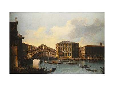 The Rialto Bridge, venice, from the North- Venetian School-Giclee Print