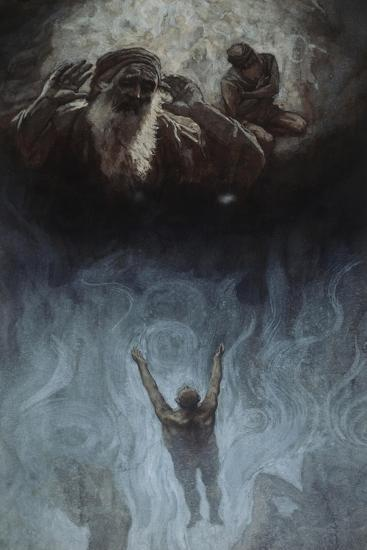 The Rich Man in Hell-James Tissot-Giclee Print