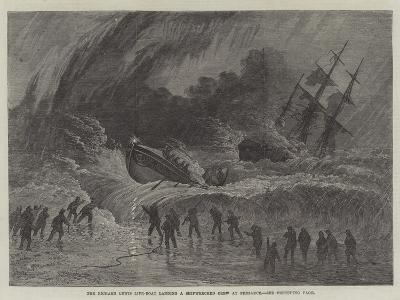 The Richard Lewis Life-Boat Landing a Shipwrecked Crew at Penzance--Giclee Print