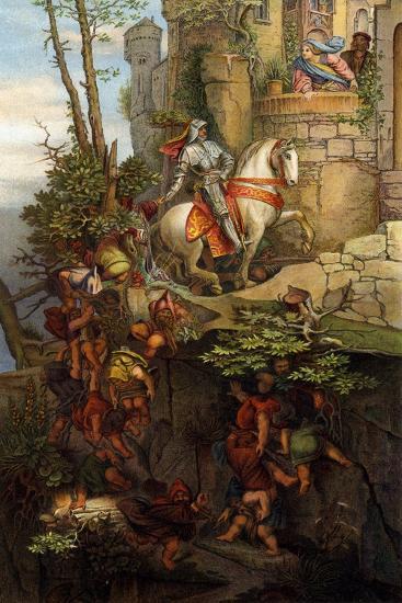 The Ride of Kuno Von Falkenstein-Moritz Ludwig von Schwind-Giclee Print