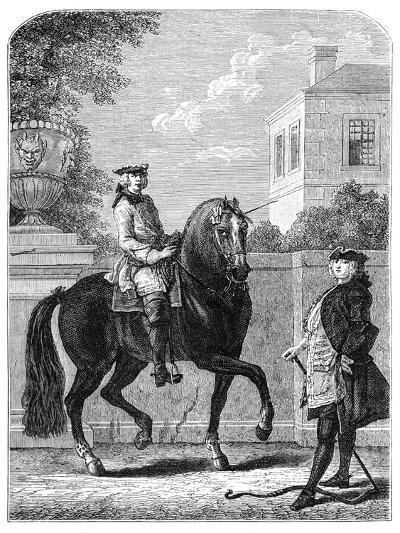 The Riding Lesson- Bonnardot-Giclee Print