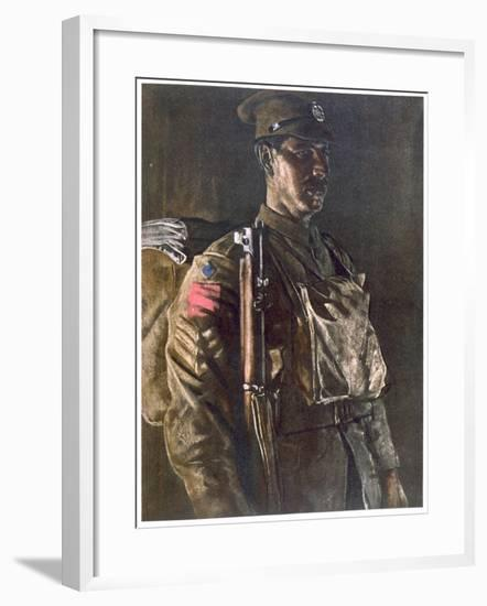 The Rifle Brigade, from British Artists at the Front, Continuation of the Western Front, Part…-Eric Henri Kennington-Framed Giclee Print