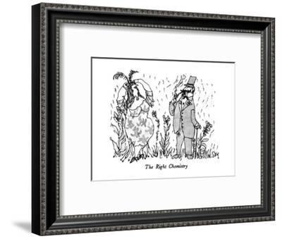 The Right Chemistry - New Yorker Cartoon-William Steig-Framed Premium Giclee Print