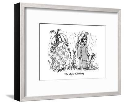 The Right Chemistry - New Yorker Cartoon-William Steig-Framed Premium Giclee Print