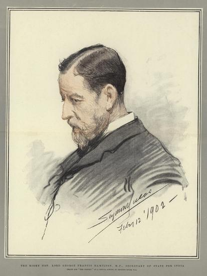 The Right Honorable Lord George Francis Hamilton, Mp, Secretary of State for India-John Seymour Lucas-Giclee Print