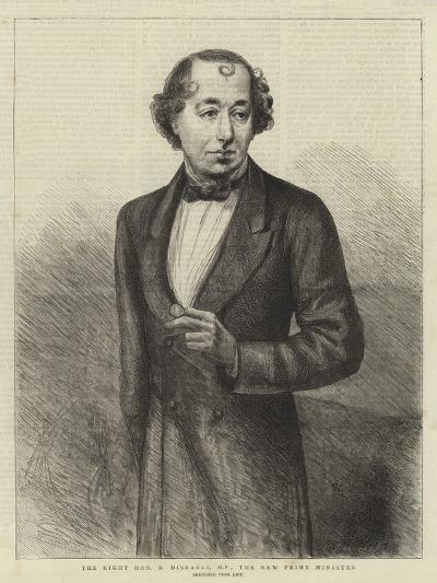The Right Honourable B Disraeli, Mp, the New Prime Minister--Giclee Print