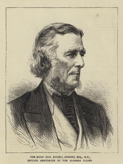 The Right Honourable Russell Gurney, Esquire, Mp, English Arbitrator in the Alabama Claims--Giclee Print