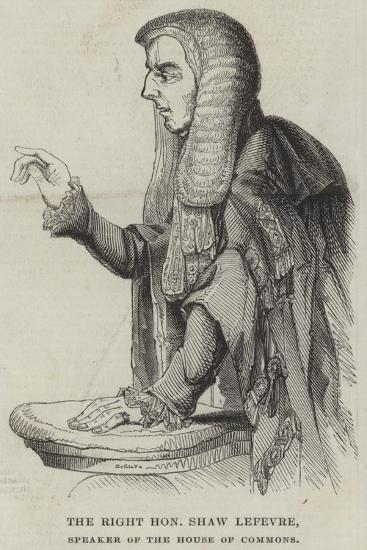 The Right Honourable Shaw Lefevre, Speaker of the House of Commons--Giclee Print