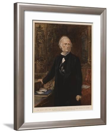 The Right Honourable the Marquis of Argyll Speaking in the House of Lords-Sydney Prior Hall-Framed Giclee Print