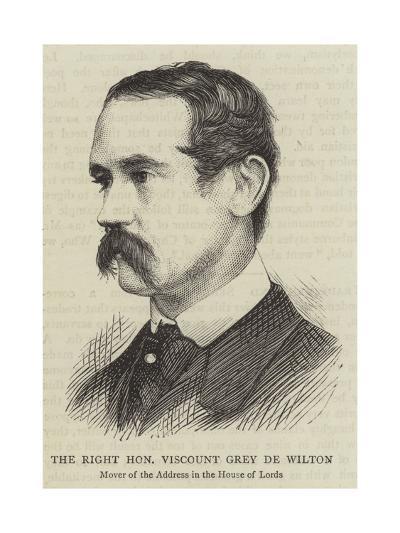 The Right Honourable Viscount Grey De Wilton--Giclee Print