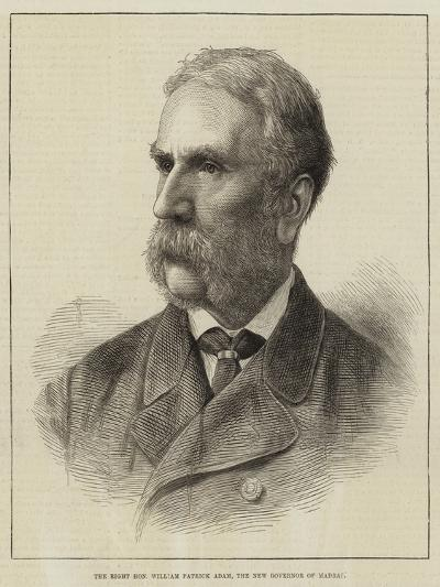 The Right Honourable William Patrick Adam, the New Governor of Madras--Giclee Print