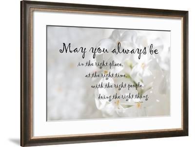 The Right Place Blessing-Ramona Murdock-Framed Art Print