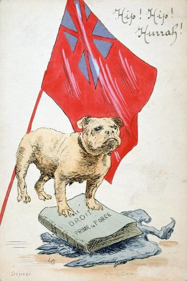 The Right Precedes the Force, French WWI Postcard, 1914-1918--Giclee Print