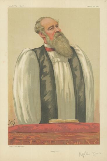 The Right Rev John Charles Ryle, Bishop of Liverpool, Liverpool, 26 March 1881, Vanity Fair Cartoon-Carlo Pellegrini-Giclee Print