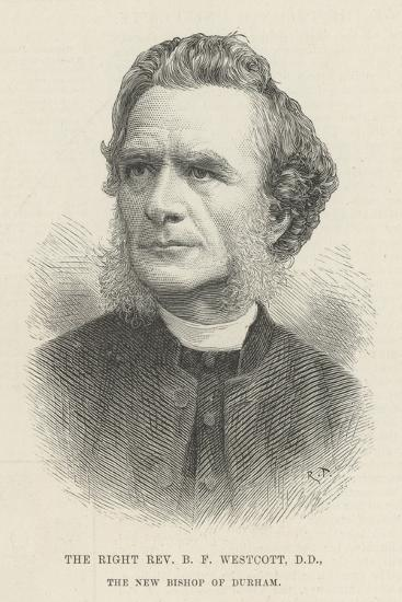 The Right Reverend B F Westcott, Dd, the New Bishop of Durham--Giclee Print