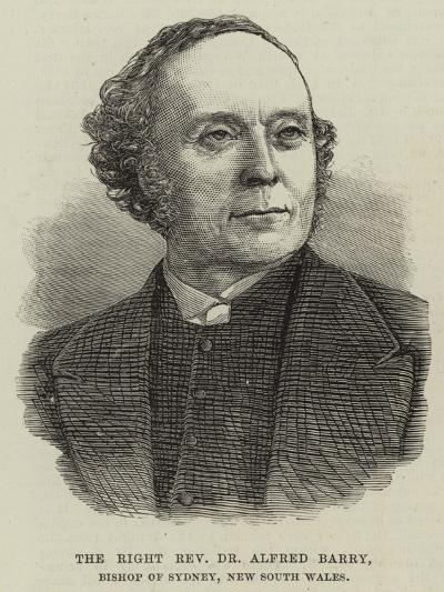 The Right Reverend Dr Alfred Barry, Bishop of Sydney, New South Wales--Giclee Print