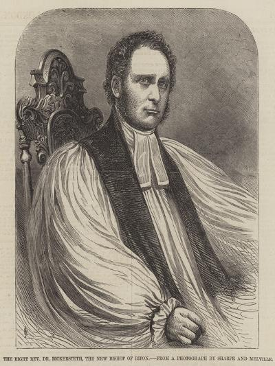 The Right Reverend Dr Bickersteth, the New Bishop of Ripon--Giclee Print