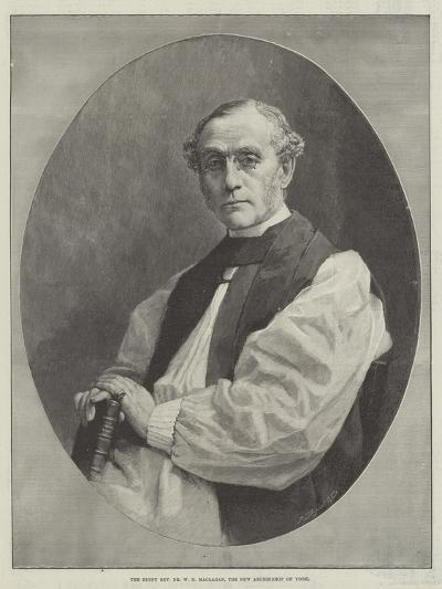 The Right Reverend Dr W D Maclagan, the New Archbishop of York--Giclee Print