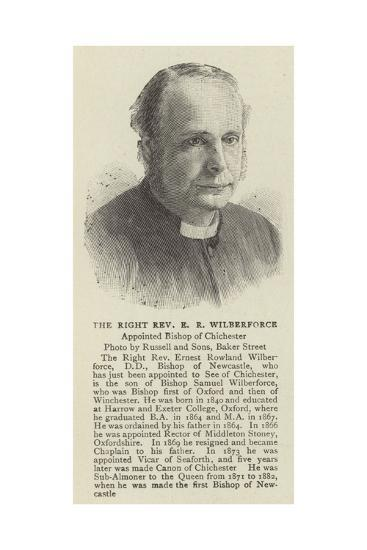 The Right Reverend E R Wilberforce--Giclee Print
