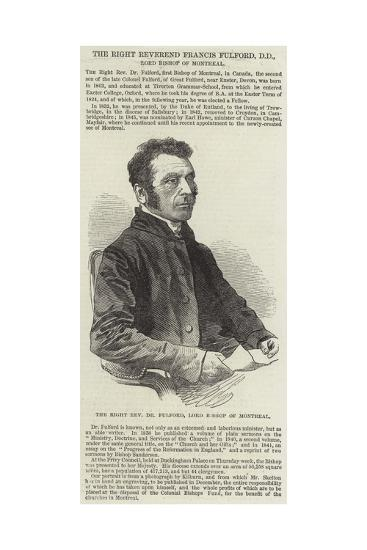 The Right Reverend Francis Fulford--Giclee Print