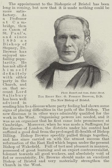 The Right Reverend G Forrest Browne, Dd, the New Bishop of Bristol--Giclee Print