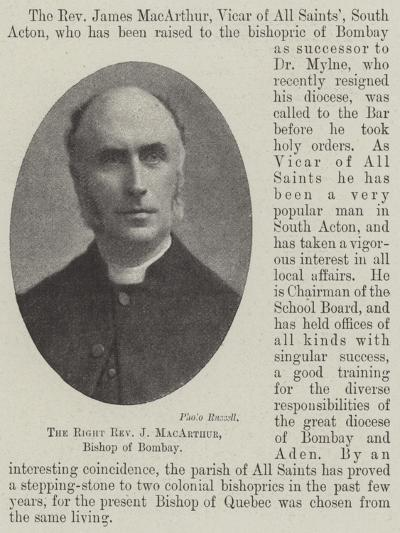 The Right Reverend J Macarthur, Bishop of Bombay--Giclee Print