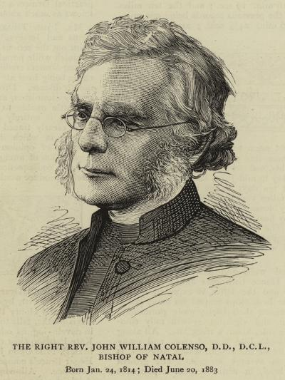 The Right Reverend John William Colenso, Bishop of Natal--Giclee Print