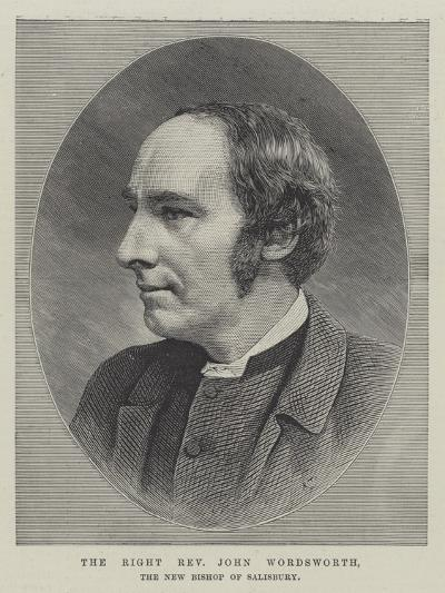 The Right Reverend John Wordsworth, the New Bishop of Salisbury--Giclee Print