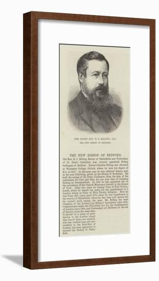 The Right Reverend R C Billing, Dd, the New Bishop of Bedford--Framed Giclee Print