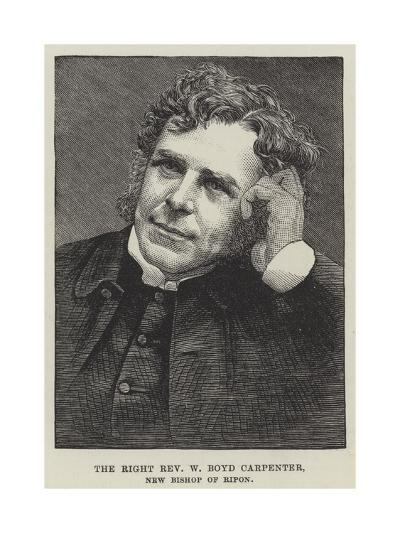 The Right Reverend W Boyd Carpenter, New Bishop of Ripon--Giclee Print