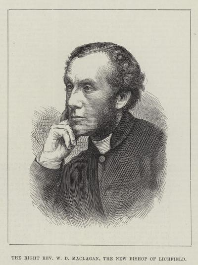 The Right Reverend W D Maclagan, the New Bishop of Lichfield--Giclee Print