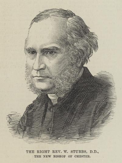 The Right Reverend W Stubbs, the New Bishop of Chester--Giclee Print