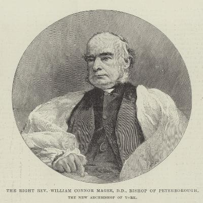 The Right Reverend William Connor Magee, Dd, Bishop of Peterborough, the New Archbishop of York--Giclee Print