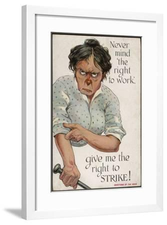 The Right to Strike--Framed Giclee Print