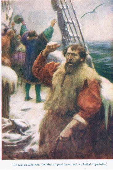 The Rime of the Ancient Mariner, Illustration from 'Stories from the Poets'-Arthur C. Michael-Giclee Print