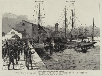 The Riot Between French and English Fishermen at Ostend--Giclee Print