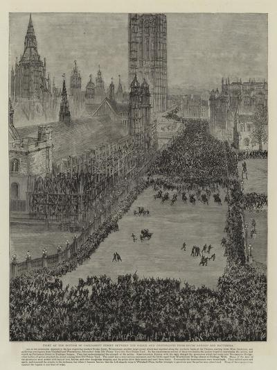 The Riot in Trafalgar Square, 13 November 1887--Giclee Print
