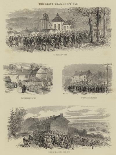 The Riots Near Sheffield--Giclee Print
