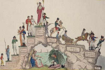 The Rise and Fall of Napoleon Bonaparte, 1814--Giclee Print