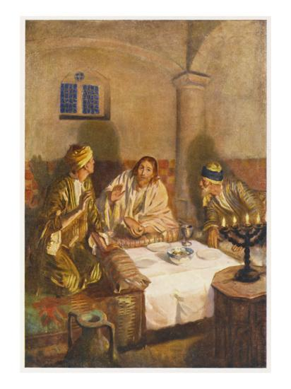 The Risen Jesus with Two of His Disciples at Emmaus--Giclee Print