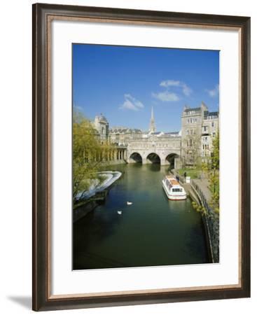 The River Avon and Pulteney Bridge, Bath, Avon, England, UK-Chris Nicholson-Framed Photographic Print